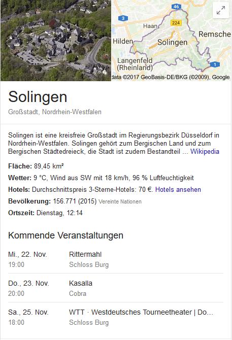 Messerstadt Solingen